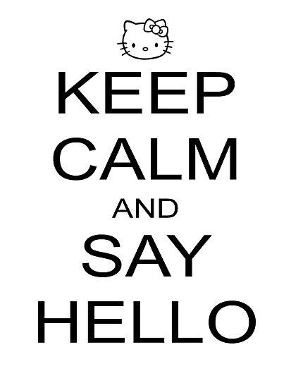 saying hello the big english blog