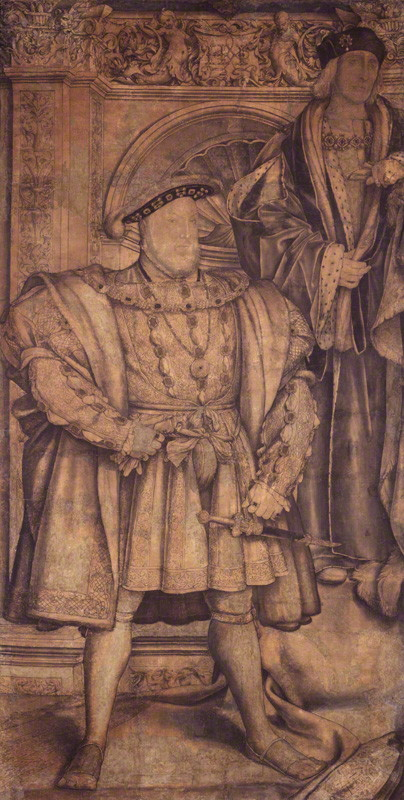 NPG 4027; King Henry VIII; King Henry VII by Hans Holbein the Younger