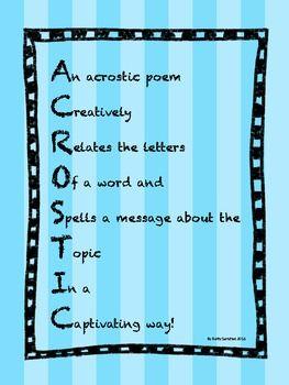 acrostic definition