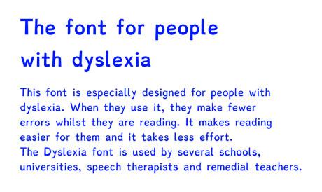 dyslexia font picture