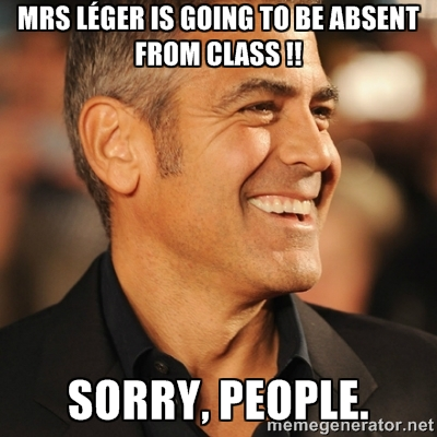 absent from class George Clooney