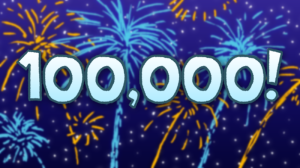 100000 hits