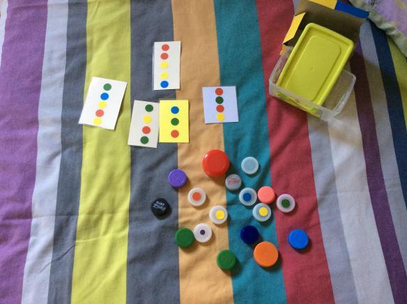 colours cards dictation